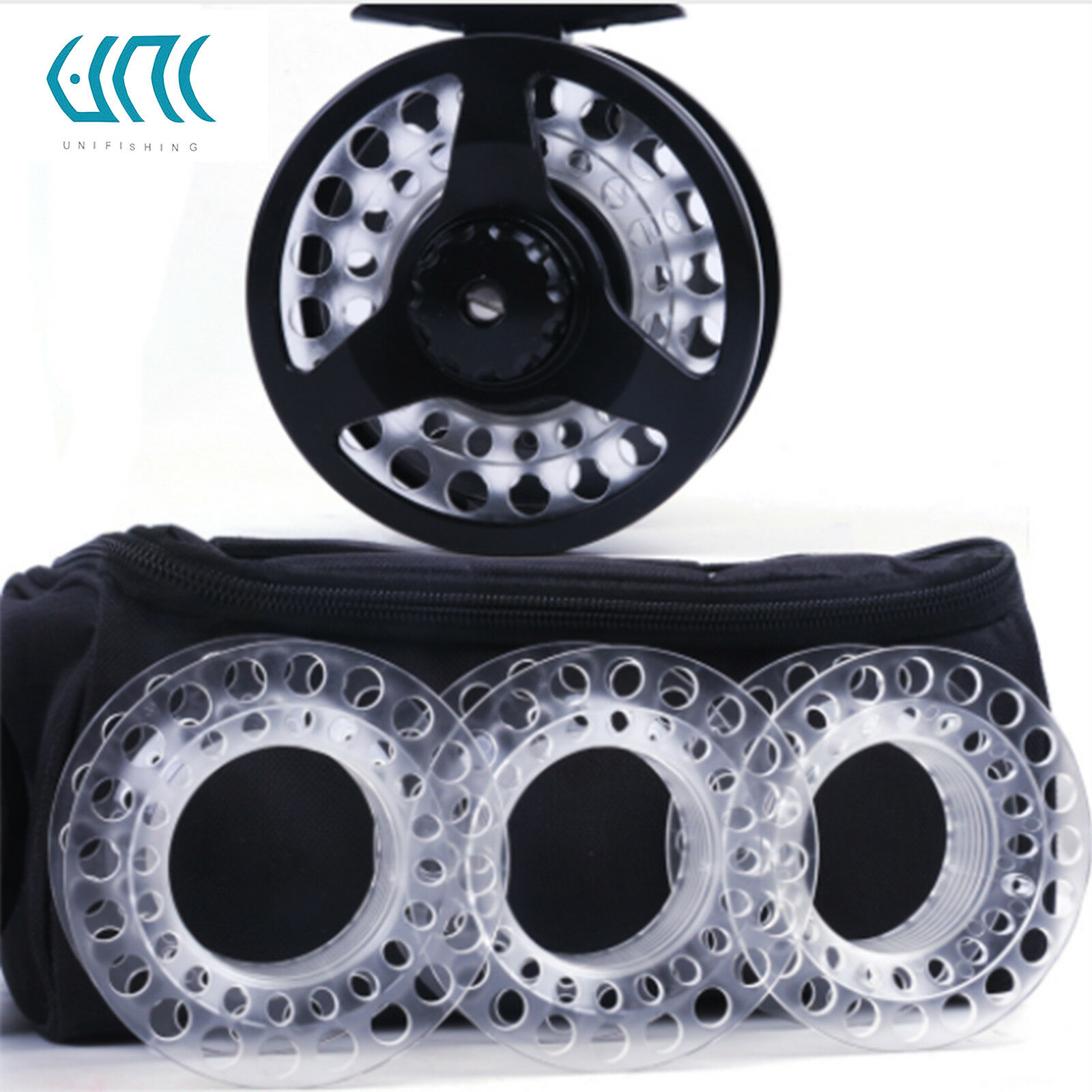 Unifishing Fly Reel Combo Cassette Fly Fishing Reel With 3 Extra Cassette Spools