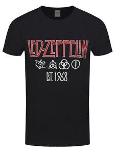 Led-Zeppelin-Herren-T-Shirt-Symbols-Est-68-schwarz