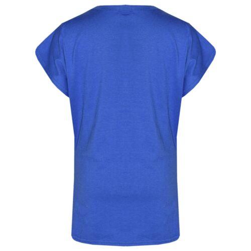 Kids Girls Royal Blue Looking Awesome Print Designer T Shirt /& Legging Set 5-13Y