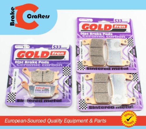 3 PAIR FRONT /& REAR S33 CERAMIC BRAKE PADS 1999-2006 HONDA CBR 600 F4 F4i