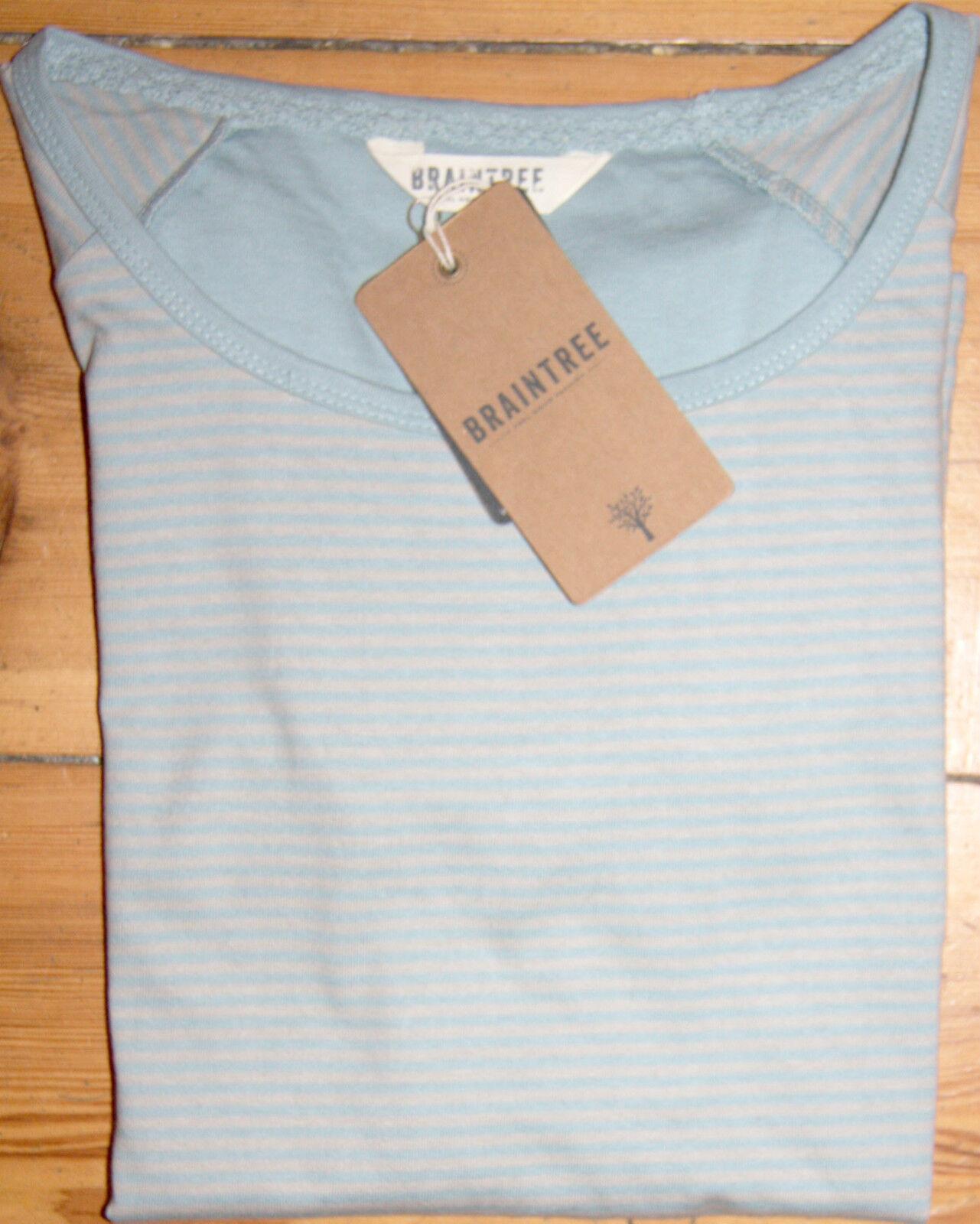 Braintree Striped-Shirt  Makai Tee  Mist 3 4 Armlänge Größe  10 entspr. M  Neu | Moderate Kosten  | Jeder beschriebene Artikel ist verfügbar  | Auktion  | Charakteristisch  | Shop