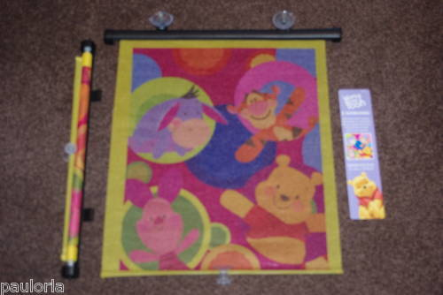 WINNIE THE POOH /& FRIENDS TWIN SUNBLIND  PACK FOR CAR