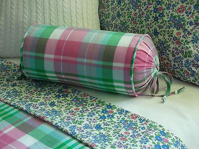 NEW Custom Ralph Lauren Cole Brook Stripe Neck Roll Pillow Neckroll
