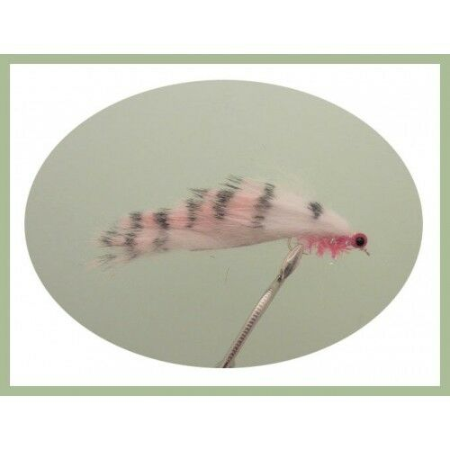 Trout Flies Zonkers 6 Pack Pink Tiger Zonker For Fly Fishing Size 10 Hook