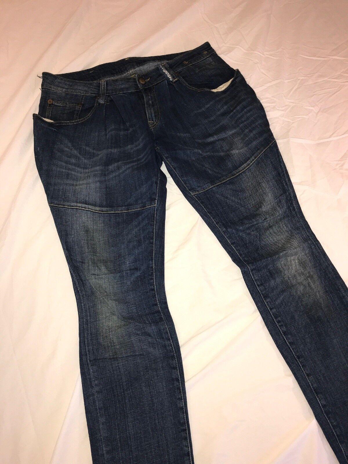 R13 Denim Rouched Distressed Jeans Sz 29