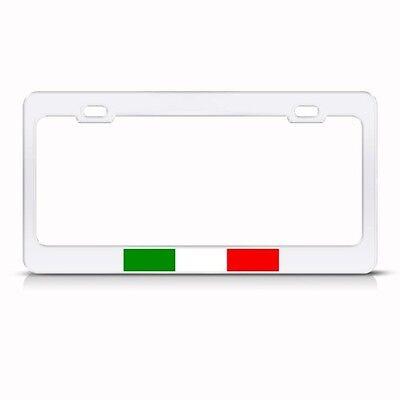 ITALY ITALIAN ITALIANO FLAG Metal License Plate Frame Tag Holder