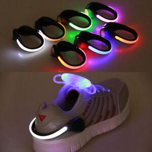 Laufen LICHT Sport leuchtend Joggen REFLEKTOR LED Details 1x SC1 Schuhe CLIP zu Beleuchtung iPXZuk