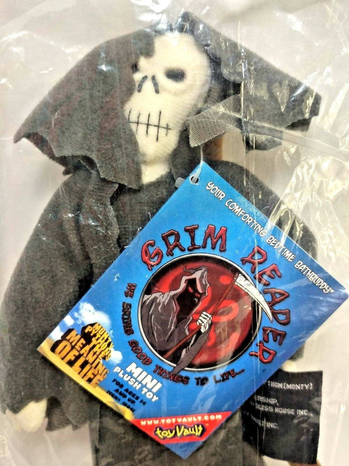 Toy Vault Monty Python Meaning Life Bedtime Buddy Grim Reaper Sealed Plush JF BK