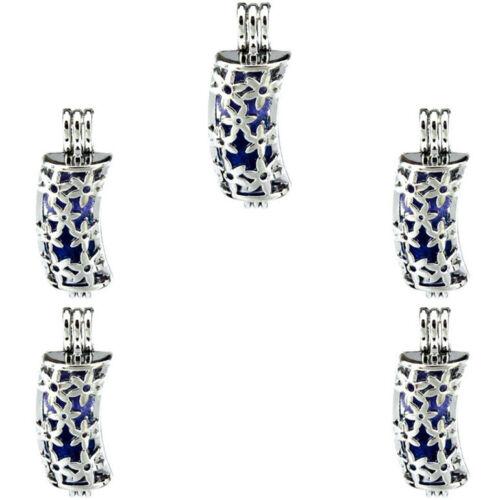 5X-K212 perles cage Creux Fleur Tube Perle Cage médaillon huiles essentielles Diffuseur