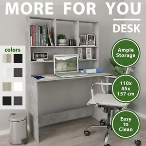 vidaXL Desk with Shelves Chipboard Writing Computer Workstation Multi Colours