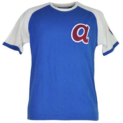 Baseball & Softball Sport AnpassungsfäHig Mlb Atlanta Braves Herren T-shirt Rundhalsausschnitt Blau Weiß Durchblutung Aktivieren Und Sehnen Und Knochen StäRken