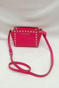ca0b096816a8 Image is loading NWT-Michael-Kors-Selma-Stud-Saffiano-Leather-Mini-