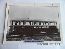 CARTE FICHE TRAIN AUTORAIL AUSTRO DAIMLER