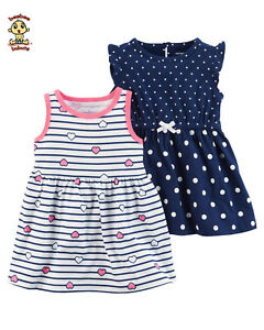 Carter-039-s-2-Pack-Dress-Set-with-Diaper-Cover-6-months-Authentic-and-Brand-New