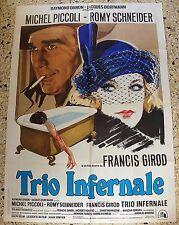 MANIFESTO TRIO INFERNALE ROMY SCHNEIDER MICHEL PICCOLI FRANCIS GIROD RARO V3 2F