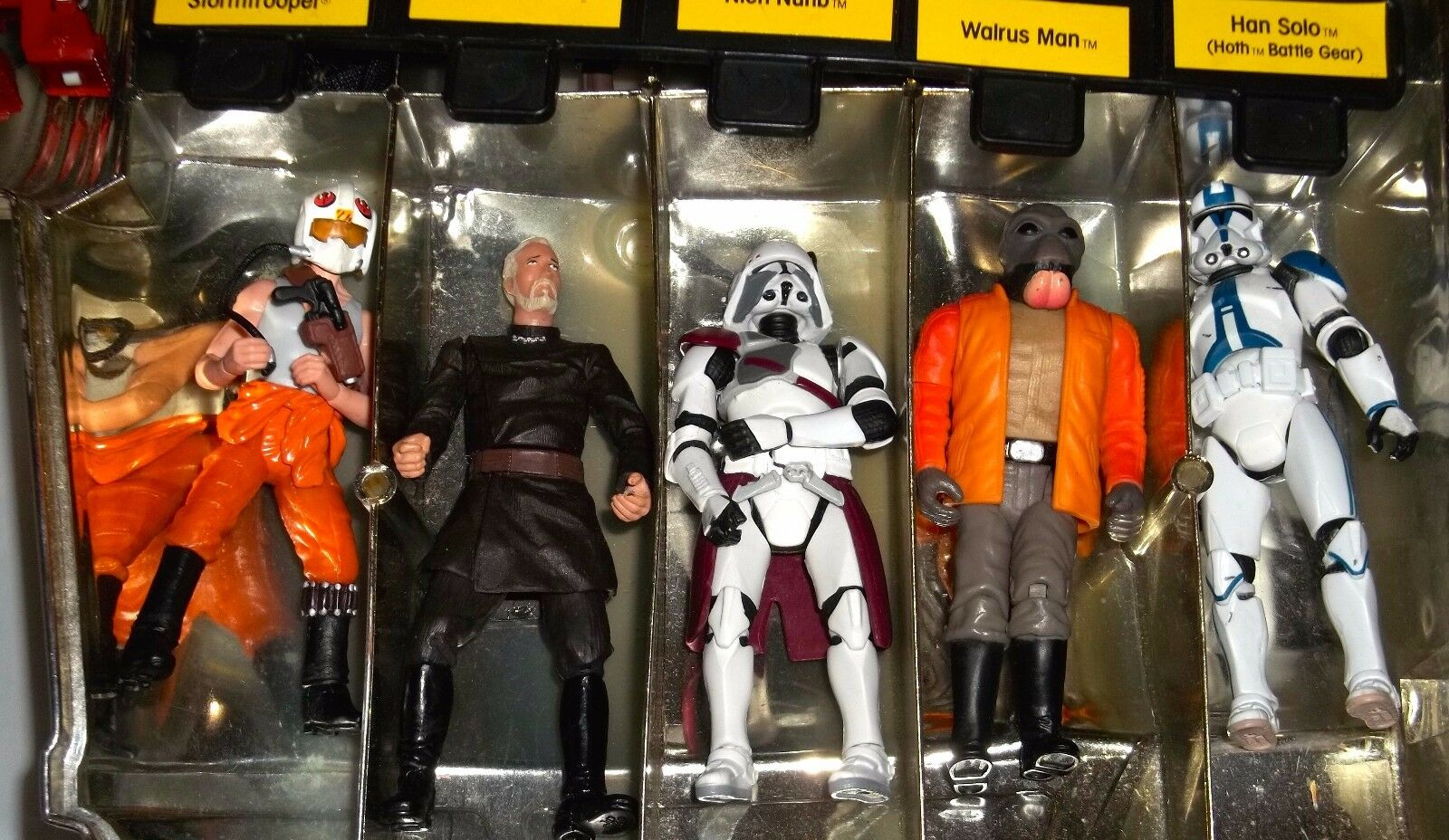 Lot Of 40 Vintage Star Wars Action Action Action Figures With Original gold C-3PO Case - Rare 41d235