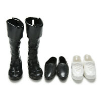 3 Pairs Dolls Cusp Leather Shoes Boots For Ken Doll Barbie Boyfriend Toy Gd