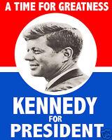 John F. Kennedy Jfk Presidential Race 1960 Campaign 8x10 Photograph Poster Photo