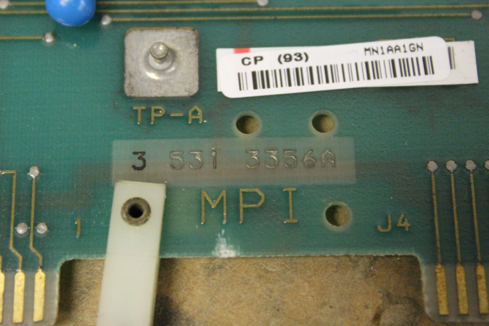 CINCINNATI MILACRON CNC MPI CIRCUIT BOARD CARD 3-531-3356A 35313356A