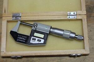 Fowler-0-1-0-25mm-Digital-Micrometer-Machinist-Tool