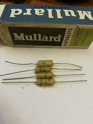 PAIR OF  MULLARD CHICKLETS 0.47UF  400v NEW OLD STOCK