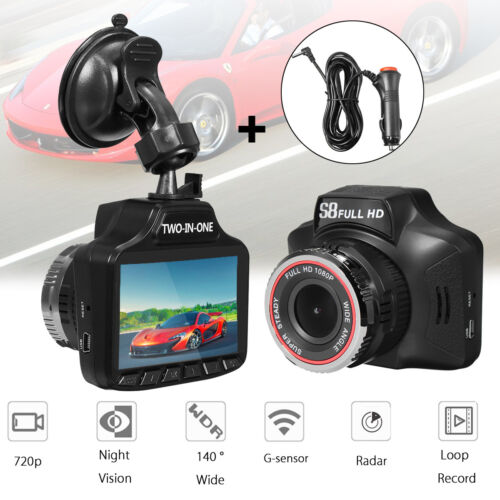 2in1 Car Hidden DVR Recorder Laser Radar Speed Detector Video Dash Cam