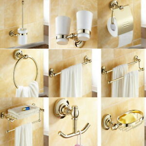 Image Is Loading Luxury Gold Color Br Bathroom Accessories Set Bath