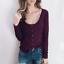Women-Long-Sleeve-Scoop-Neck-Button-Tops-Casual-Slim-Basic-T-Shirt-Jumper-Blouse thumbnail 3