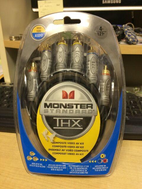Monster Standard THX Composite Video AV Kit 4ft