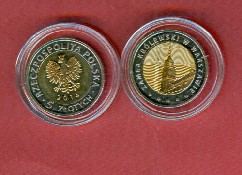 Metallic COMMEMORATIVE UNC Royal Castle  Bi POLAND 5 ZLOTYCH ZLOTE 2014
