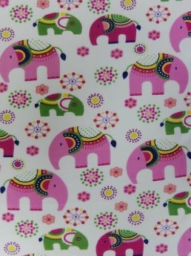 Polar fleece anti pill soft fabric Premium Quality Baby Elephants Q1332