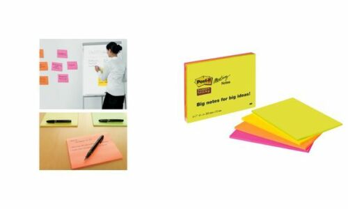4-farbig Post-it Meeting Notes Super Sticky 152 x 101 mm