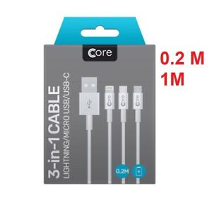 Simple Universel 3 In1 Multi Usb Chargeur Charge Câble Synchronisation Pour Iphone Android Téléphones-afficher Le Titre D'origine