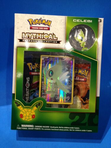 CELEBI - Mythical Pokemon Collection Box Sealed New! Pokemon Pin Foil