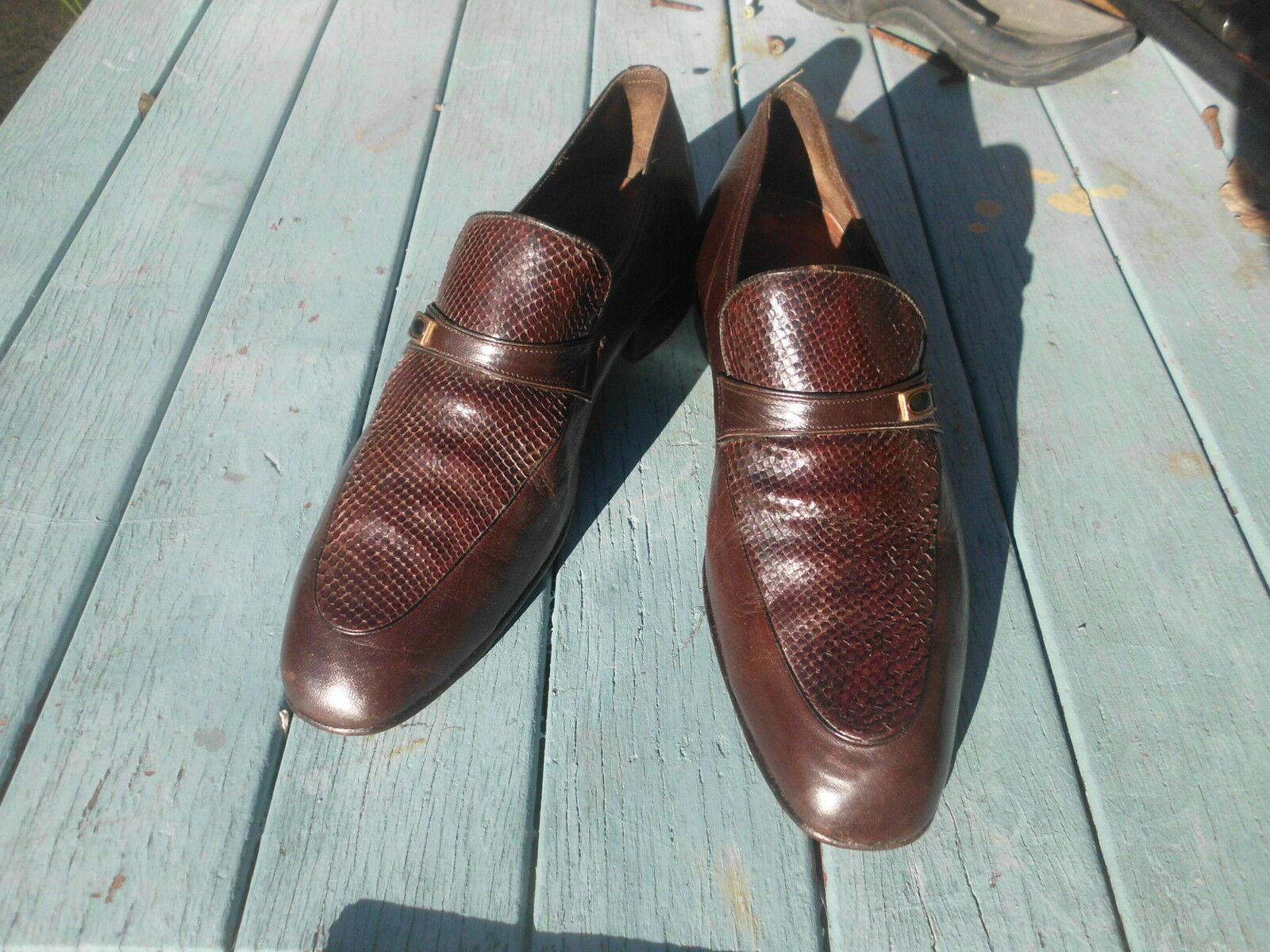 SNAKE SKIN LOAFERS BY VIA AUGUSTA SIZE 9