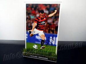 Signed-MARK-BRIDGE-Photo-amp-Frame-PROOF-Western-Sydney-Wanderers-2018-Jersey