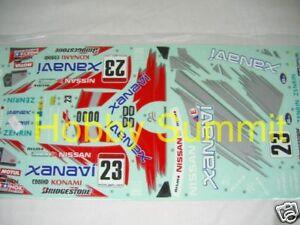 Tamiya 1/10 R/C  XANAVI  NISMO GT-R  (R34) Sports Car  STICKER DECAL Set