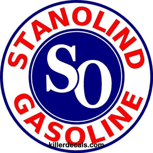 "12/"" STANOLIND AMOCO GASOLINE GAS PUMP OIL TANK DECAL STANO-1"