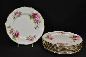 Royal-Albert-American-Beauty-Set-of-8-Dinner-Plates