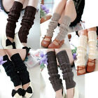Women Winter Warm High Knee Knit Crochet Knitted Leg Warmers Legging Boot Socks