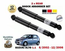 FOR SUZUKI ALTO 1.1 63 BHP 8/2002-12/2006 NEW 2 X REAR SHOCK ABSORBER SET