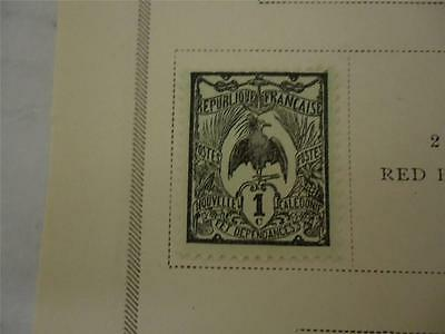 Antique Official New Caledonia Postage Stamp 1905-1906 On Page - Make an Offer