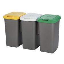 Cubo de basura papelera reciclaje 3 cubos 75 litros (3 x 25...