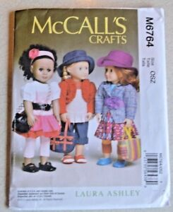 McCall-039-s-Craft-pattern-M6764-18-034-doll-Downtown-Outfits-UC-Laura-Ashley