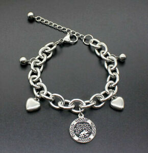 Cool-Men-039-s-Boys-Punk-Stainless-Steel-Chain-Wristband-Clasp-Cuff-Bangle-Bracelet