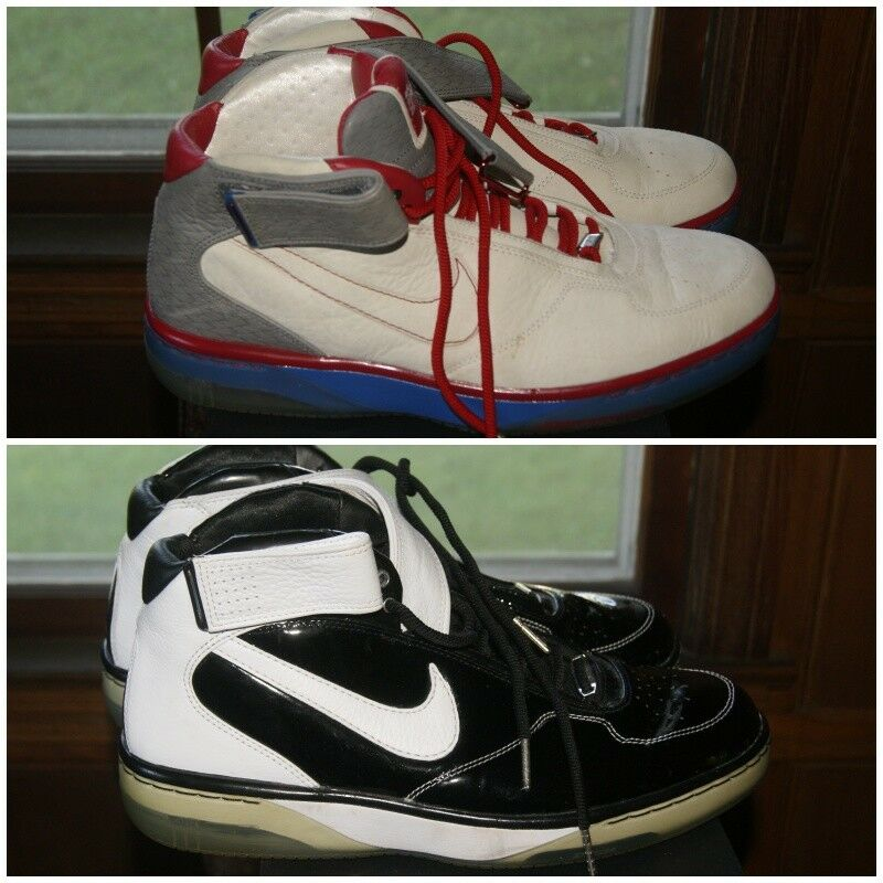 Mens Nike Air Force 1 Premium Basketball Shoes Sz 13 MSRP    Black White Blue