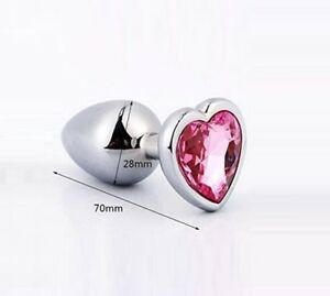 Image Is Loading Intimate Metal Anal Beads Plug W Crystal Jewelry