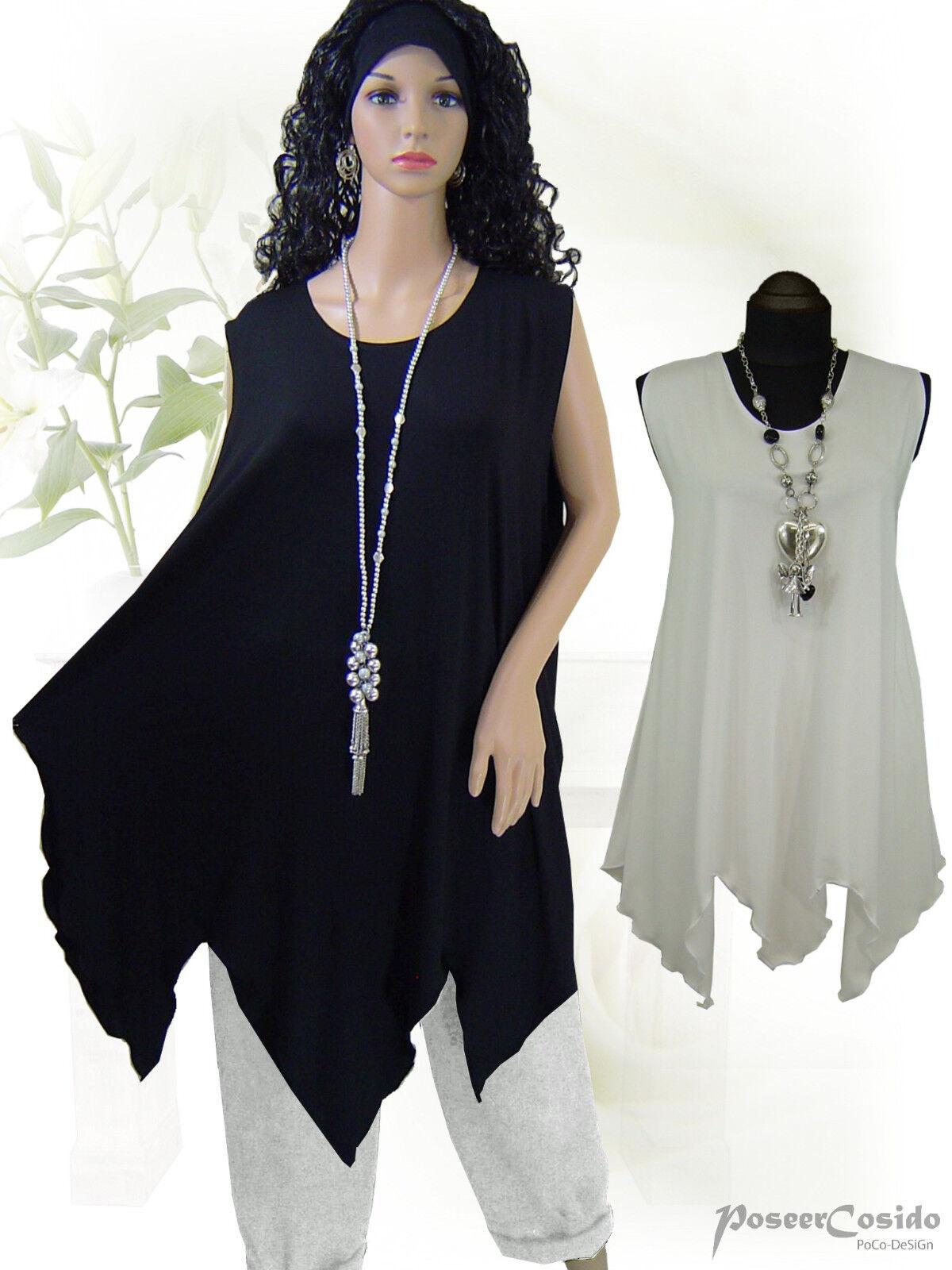 PoCo DeSiGn° LAGENLOOK Top Over-Long Shirt Jersey Tunika 42-58    L XL XXL XXXL