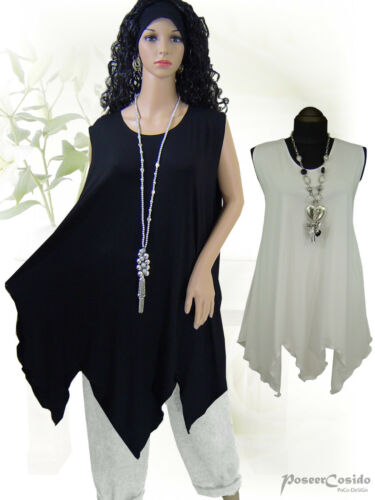 PoCo LAGENLOOK Top Over-Long Shirt Tunika 44 46 48 50 52 54 56 58 L XL XXL XXXL