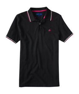 aeropostale mens a87 double tipped pique polo shirt